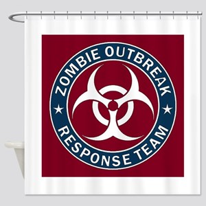 Zombie Outbreak Response Team - Blu Shower Curtain