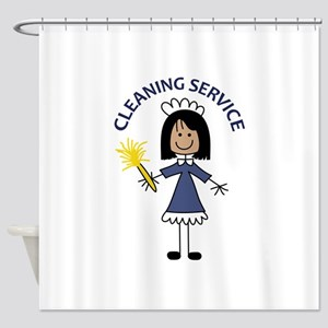 CLEANING SERVICE Shower Curtain