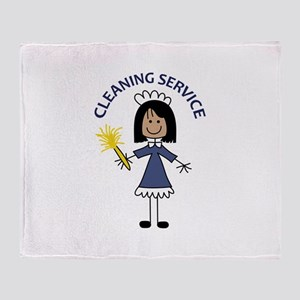 CLEANING SERVICE Throw Blanket