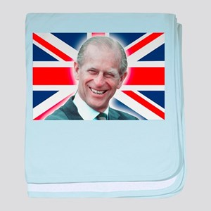 HRH Prince Philip - Great Britons! baby blanket