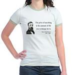 Henry David Thoreau 30 Jr. Ringer T-Shirt