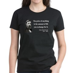 Henry David Thoreau 30 Women's Dark T-Shirt