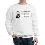Henry David Thoreau 30 Sweatshirt