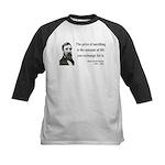 Henry David Thoreau 30 Kids Baseball Jersey