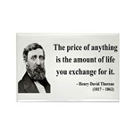 Henry David Thoreau 30 Rectangle Magnet (100 pack)