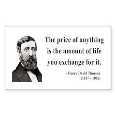 Henry David Thoreau 30 Rectangle Decal