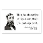 Henry David Thoreau 30 Rectangle Sticker
