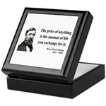 Henry David Thoreau 30 Keepsake Box