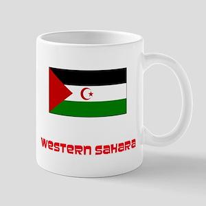 Western Sahara Flag Retro Red Design Mugs