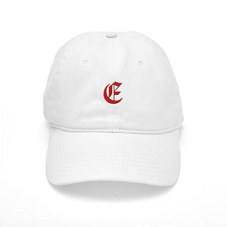 Red Monogram E Cap