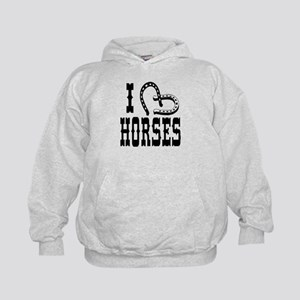 I Heart Horses Kids Hoodie