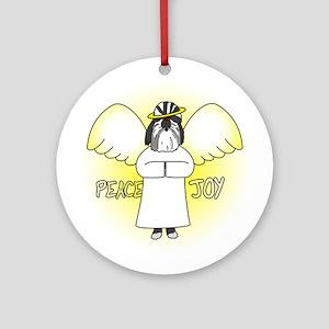 Black Peace JoyShih Tzu Christmas Ornament
