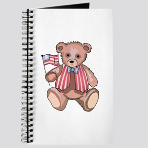FLAG WAVING TEDDY Journal