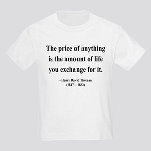 Henry David Thoreau 30 Kids Light T-Shirt