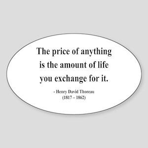 Henry David Thoreau 30 Oval Sticker