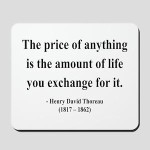 Henry David Thoreau 30 Mousepad