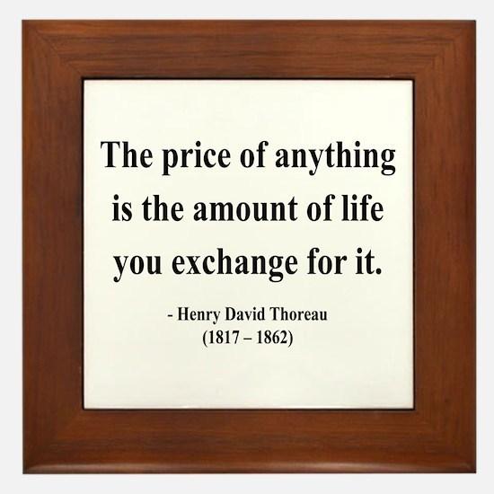 Henry David Thoreau 30 Framed Tile