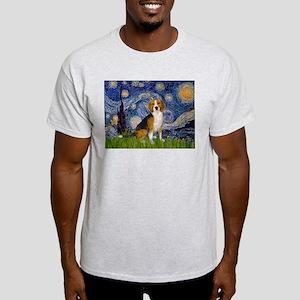 Starry Night & Beagle Light T-Shirt