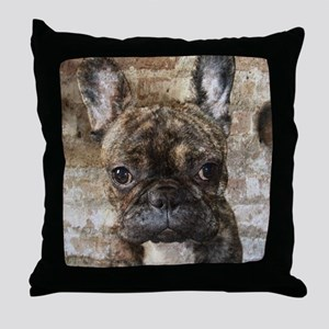 I LUV FRENCHIES Throw Pillow
