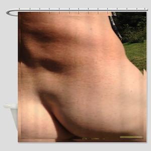 Rear Male Nude Bare Bottom Shower Curtain