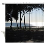 Smooth Flat Western Pacific Ocean Shower Curtain