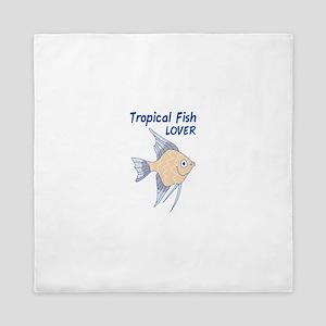 TROPICAL FISH LOVER Queen Duvet