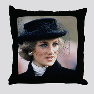 HRH Princess of Wales France Throw Pillow