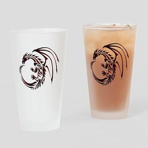 Tribal Dragon Red & Black Drinking Glass