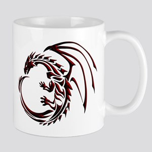 Tribal Dragon Red & Black Mug