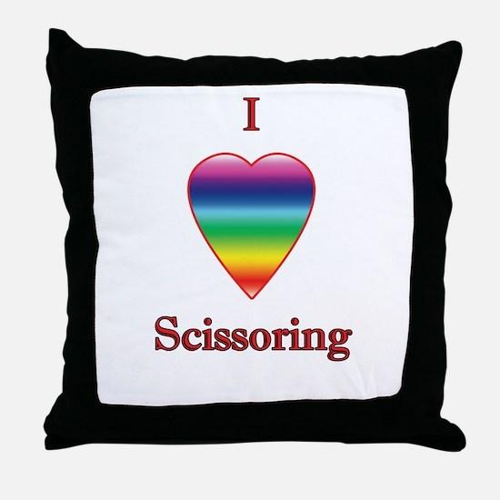 I love scissoring Throw Pillow