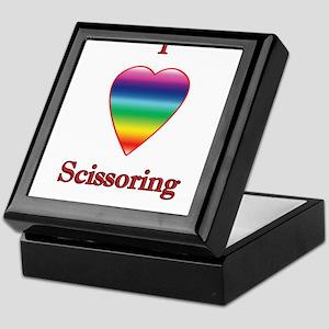 I love scissoring Keepsake Box