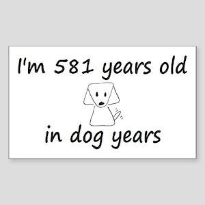83 dog years 6 - 3 Sticker