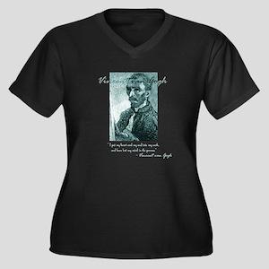 Vincent Women's Plus Size V-Neck Dark T-Shirt