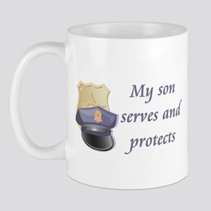 My son serves and protects Mug