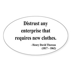 Henry David Thoreau 32 Oval Decal
