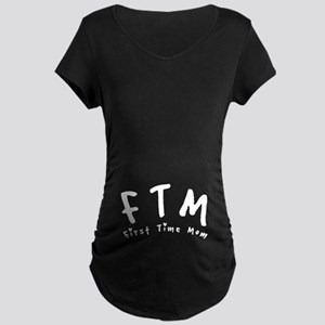 FTM First Time Mom Maternity Dark T-Shirt