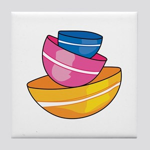 STACKED MIXING BOWLS Tile Coaster