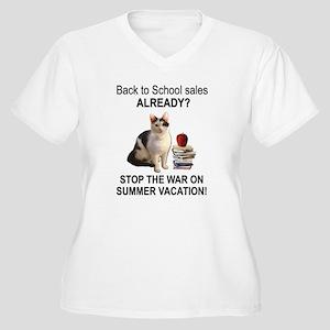Summer Vacation Women's Plus Size V-Neck T-Shirt