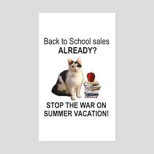 Summer Vacation Rectangle Sticker