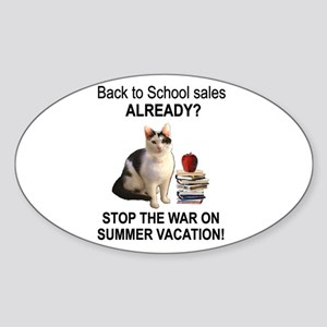 Summer Vacation Oval Sticker