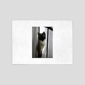 window-cat 5'x7'Area Rug