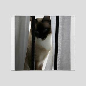 window-cat Throw Blanket