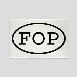 FOP Oval Rectangle Magnet