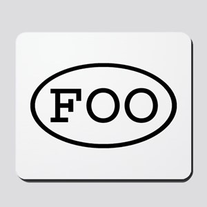 FOO Oval Mousepad