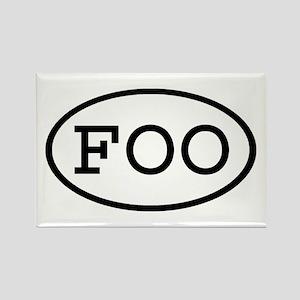FOO Oval Rectangle Magnet
