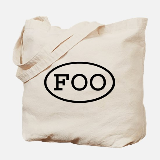 FOO Oval Tote Bag