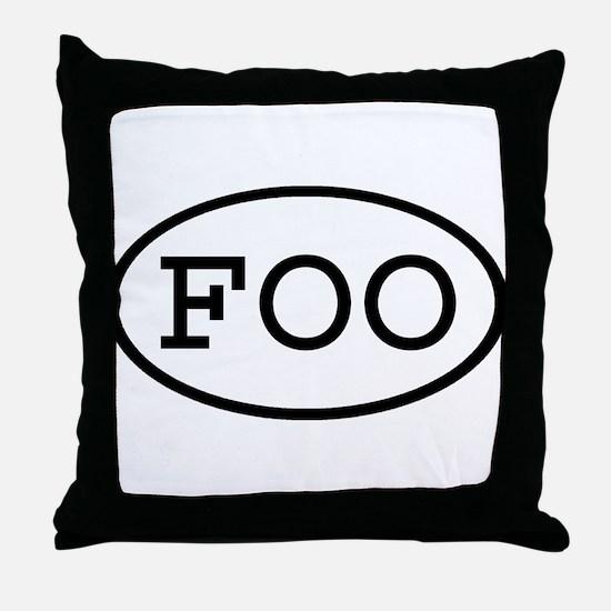 FOO Oval Throw Pillow