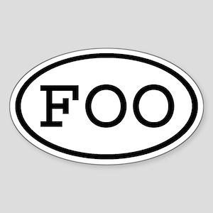 FOO Oval Oval Sticker