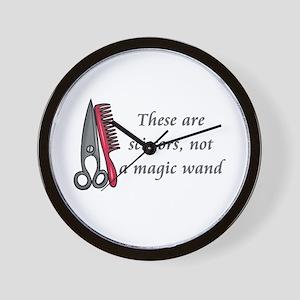 Scissors not a magic wand Wall Clock
