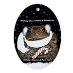 Matilda the toad Holiday Ornament